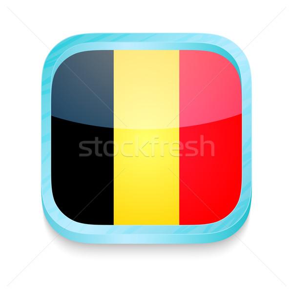 Botón Bélgica bandera teléfono marco Foto stock © lirch