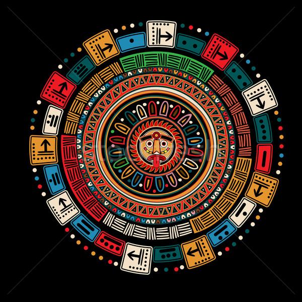 календаря черный искусства время Бога культура Сток-фото © lirch