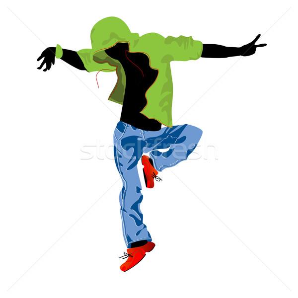 Táncos zene férfi tánc diszkó zöld Stock fotó © lirch