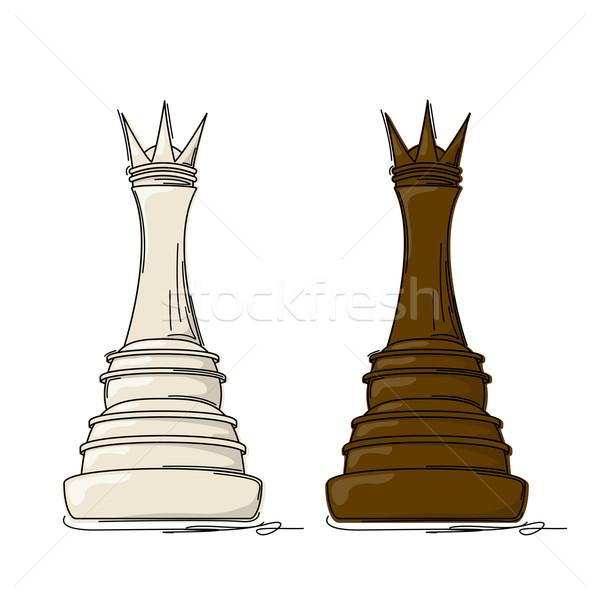 Chess queen Stock photo © lirch
