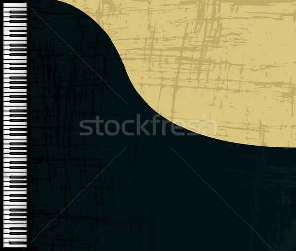 Grunge zongora profil hangversenyzongora grafikus illusztráció Stock fotó © lirch