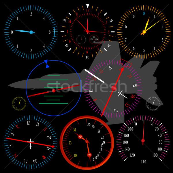 現代 飛行機 ダッシュボード 黒 孤立した 車 ストックフォト © lirch