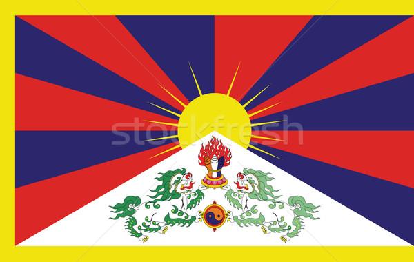 Pavillon tibet montagne rouge blanche Asie Photo stock © lirch