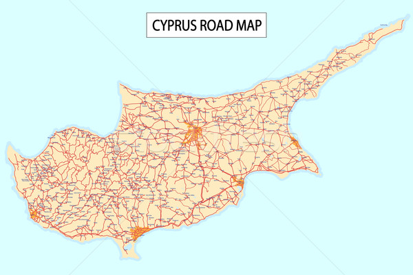 Cyprus road map Stock photo © lirch