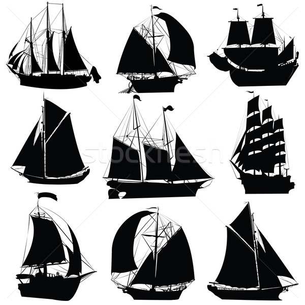 Sailing ships collection Stock photo © lirch