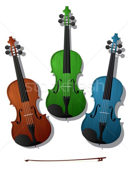 Colored violins Stock photo © lirch