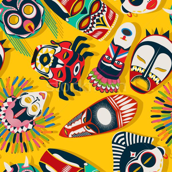 Tribal mask ethnic  Stock photo © lirch