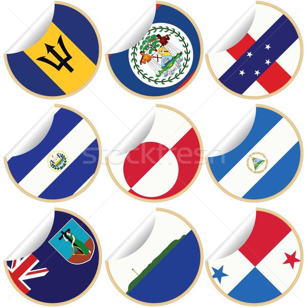 Collectie land vlaggen noorden centraal Stockfoto © lirch