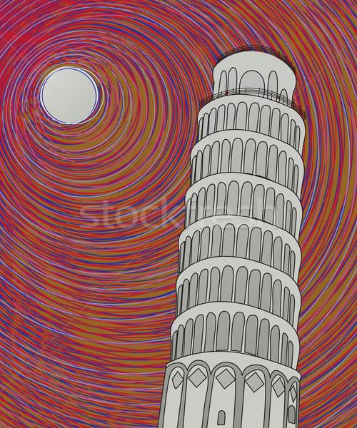Pisa tower sketch Stock photo © lirch