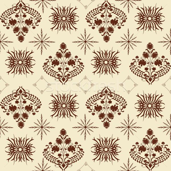 Art noveau padrão estilo fundo tecido Foto stock © lirch