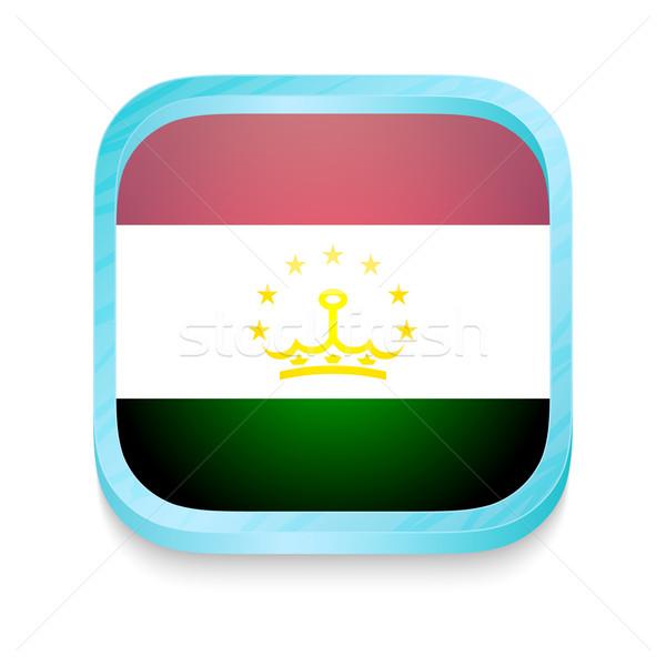 Okostelefon gomb Tádzsikisztán zászló telefon keret Stock fotó © lirch