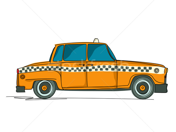 Cartoon yellow cab Stock photo © lirch