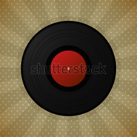 Black vinyl record Stock photo © lirch