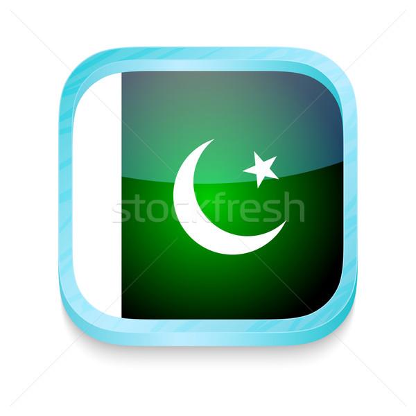 Okostelefon gomb Pakisztán zászló telefon keret Stock fotó © lirch