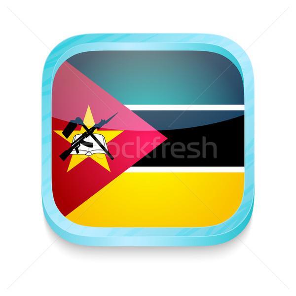Botão Moçambique bandeira telefone quadro Foto stock © lirch