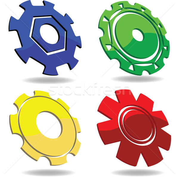 Gear icons  Stock photo © lirch