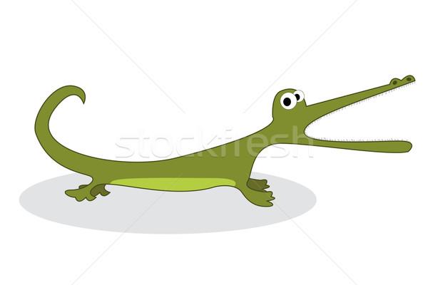 Clip Art Krokodil isoliert Objekt weiß Hand Stock foto © lirch