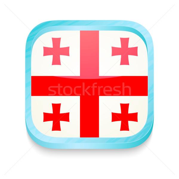кнопки Грузия флаг телефон кадр Сток-фото © lirch