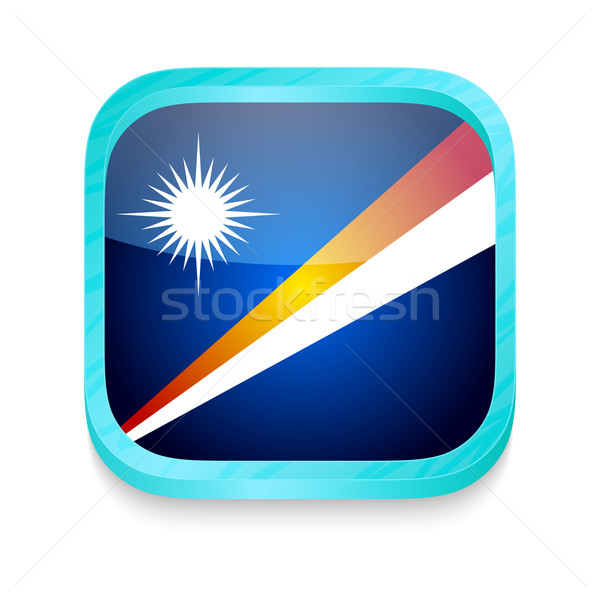 Smart phone button with Marshal Island flag Stock photo © lirch
