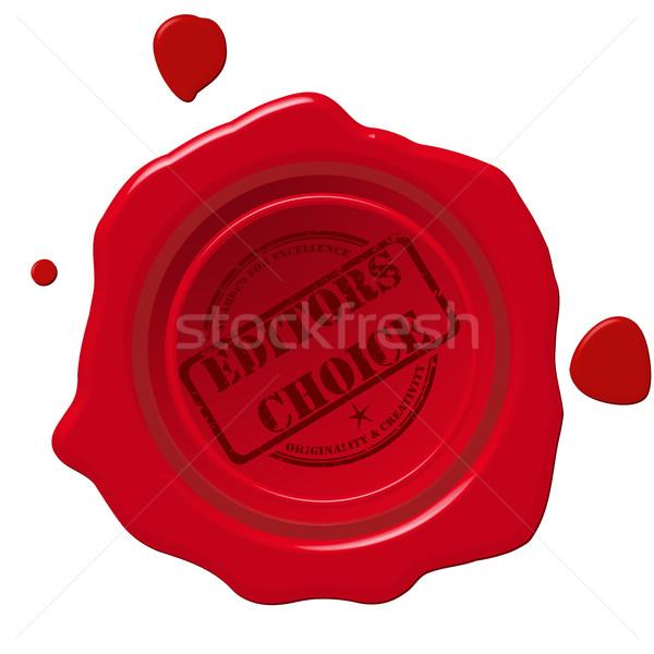 Editors choice seal Stock photo © lirch