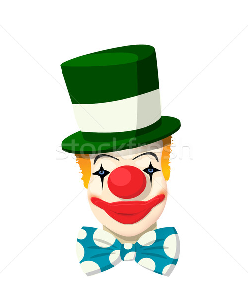 Clown avatar vecteur blanche sourire cheveux Photo stock © lirch