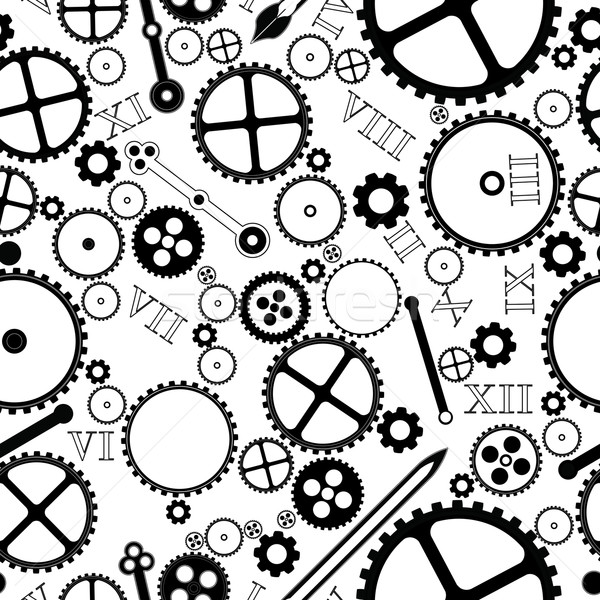 Reloj piezas patrón tecnología metal signo Foto stock © lirch