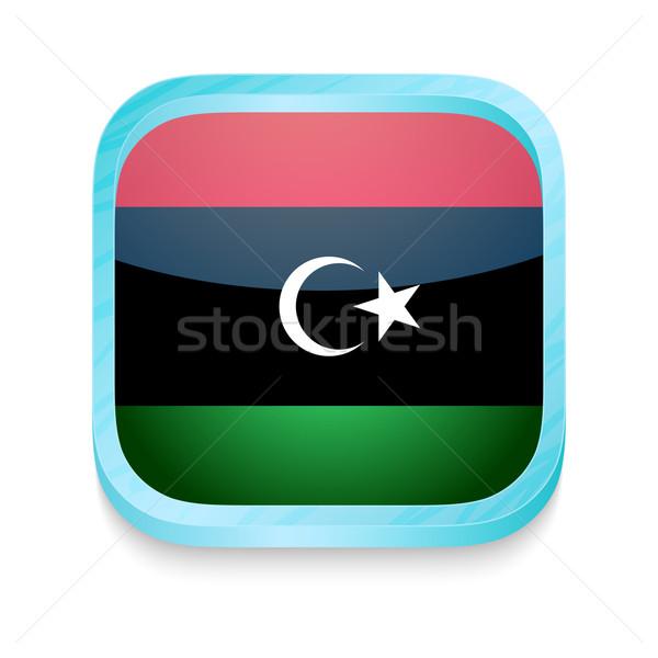 Przycisk Libia banderą telefonu ramki Zdjęcia stock © lirch