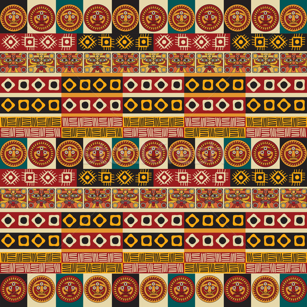 Mayan aztec tribal seamless texture Stock photo © lirch