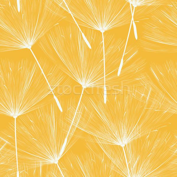 Foto stock: Sem · costura · leão · padrão · primavera · fundo · beleza
