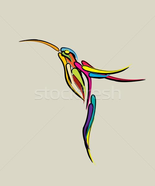 Stylized humming bird Stock photo © lirch