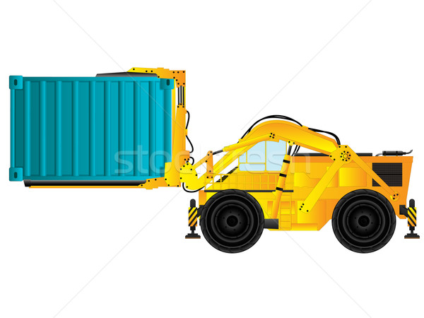 Container handler, forklift Stock photo © lirch