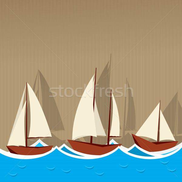 Sailing ships background Stock photo © lirch