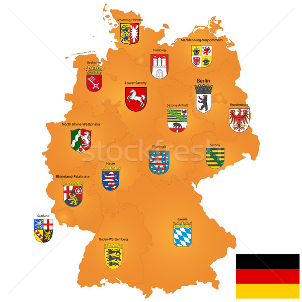 map of Germany Stock photo © lirch