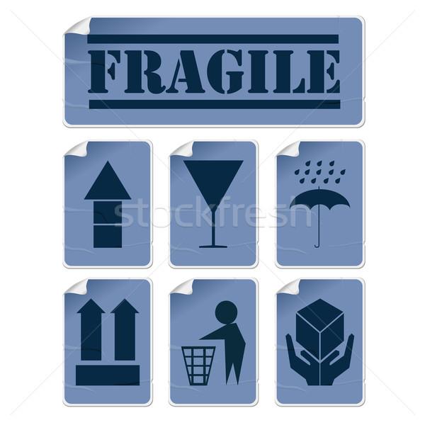 Transportation stickers Stock photo © lirch