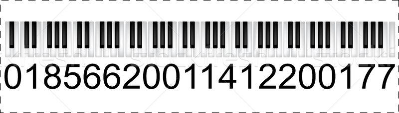 Musical handelsmerk technologie toetsenbord piano sleutel Stockfoto © lirch