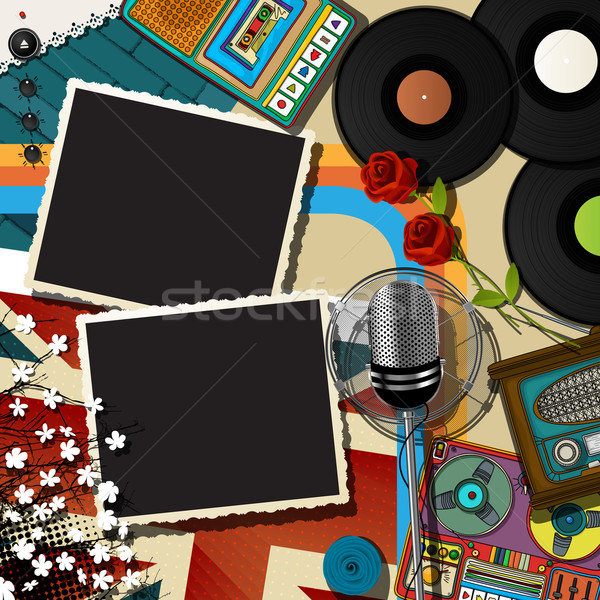 Music collage backound Stock photo © lirch