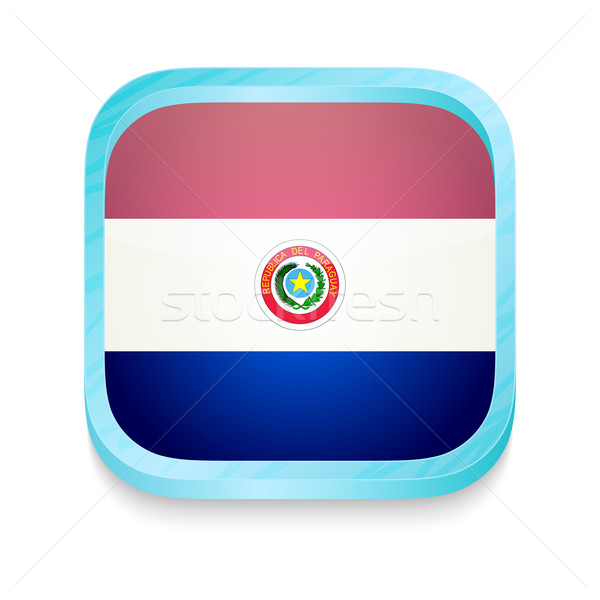 Smart phone button with Paraguay flag Stock photo © lirch