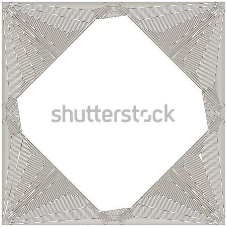 Decorativo art noveau quadro branco caneta fundo Foto stock © lirch
