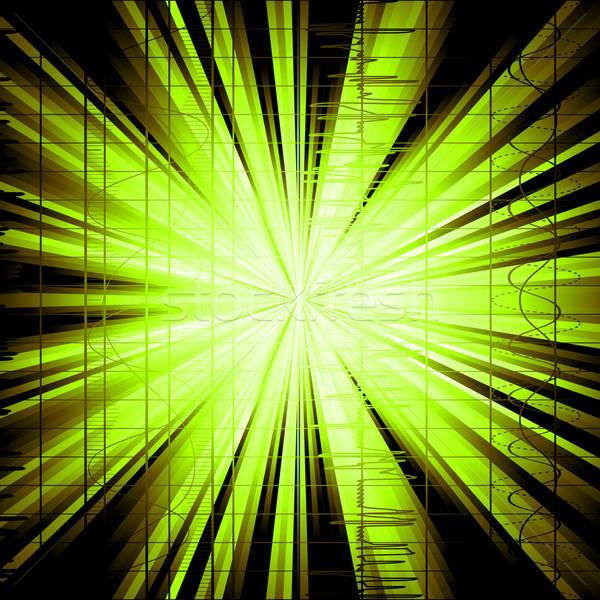 Techno estilo escala música ondas Foto stock © lirch