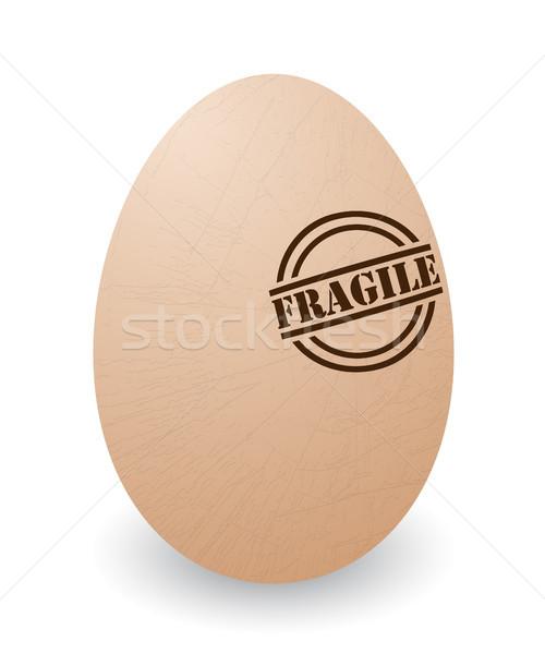 Kruchy jaj ilustracja pęknięty pieczęć tle Zdjęcia stock © lirch