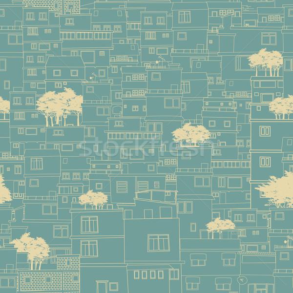бесшовный город шаблон эскиз план подобно Сток-фото © lirch