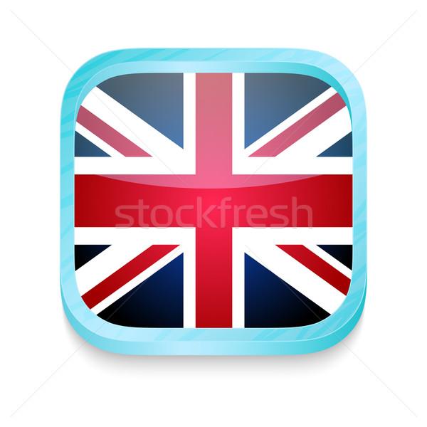 Pulsante Regno Unito bandiera telefono frame Foto d'archivio © lirch