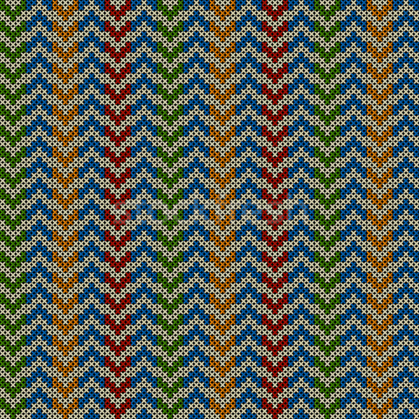 Seamless pattern with knitted motif Stock photo © lirch