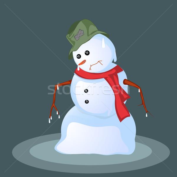 Olvad hóember absztrakt művészet arc terv Stock fotó © lirch