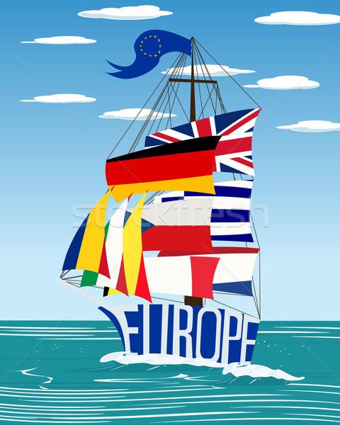 EU ship Stock photo © lirch