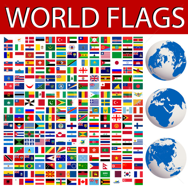 Stok fotoğraf: Dünya · bayraklar · toplama · dünya · gezegeni · toprak · renk