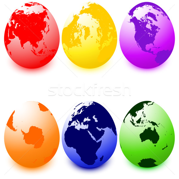 Easter eggs  Stock photo © lirch