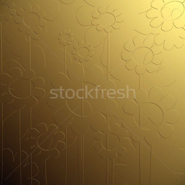 bas relief floral  Stock photo © lirch