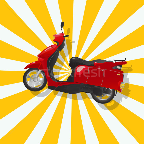 The fantastic shiny red scooter Stock photo © lirch