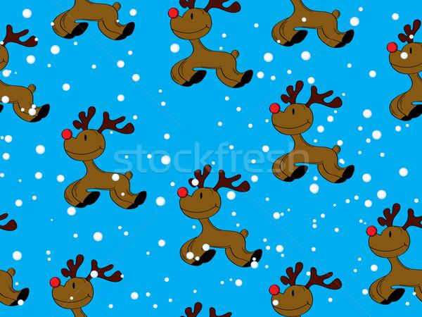 Seamless Rudolph Stock photo © lirch